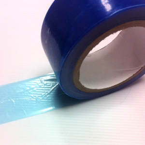 Low Tack Surface Protection Tape Plain Blue 75mm x 100m