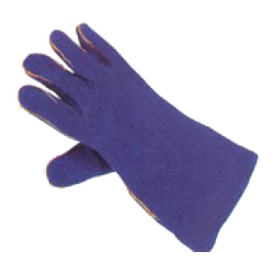 Blue Lined Heat Resistant Welders Gauntlet