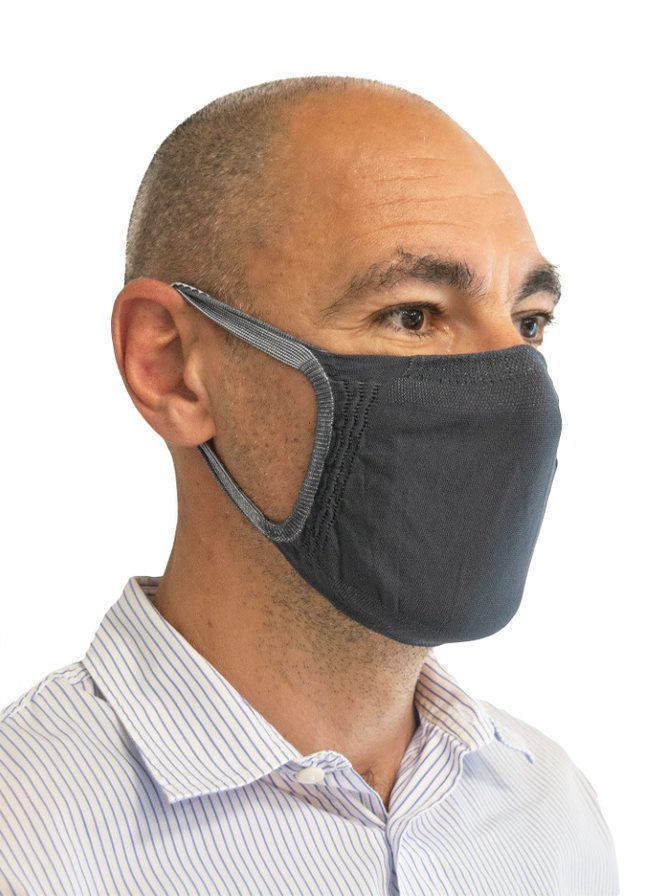 FMI Washable Reusable Face Mask / Covering Adult DARK GREY Antibacterial ** BEST SELLER **