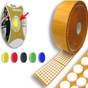 CD / DVD Dots / Discs / Buttons / Holders / Spiders Foam White 16mm x 4mm (1000 Per Roll)