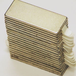 Reclosable Neodymium Magnets 25mm x 10mm x 1mm (10 Pairs)