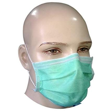 Disposable Surgical Face Masks (50X) 3 Ply Type 2