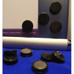 Black Memo Magnets 25mm Diameter (Pack of 10)