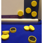 Yellow Memo Magnets 25mm Diameter (Pack of 10)