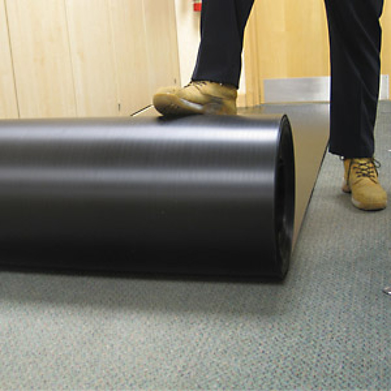 Correx ® (corex) Corrugated Plastic Roll Floor & Surface Protector 1M x 50M x 2mm Black