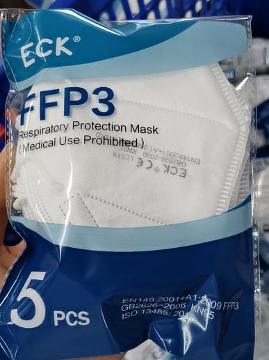 ECK FFP3 P3 Face Mask No Valve (box of 5) PRE-ORDER!