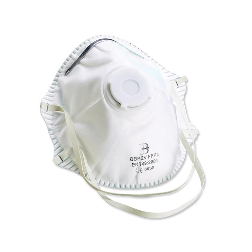 Best Quality N95 FFP2 P2 Valved Dust/Mist Respirator (5 Masks)