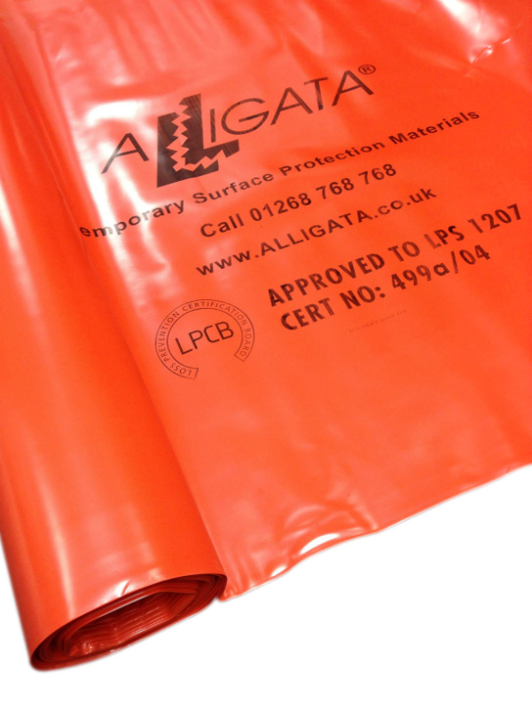 Fire / Flame Retardant Polythene Sheeting Poly FR 4m x 25m 1000g LPS 1207