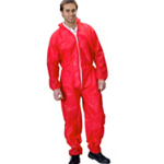 Polypropylene Coveralls Red Medium
