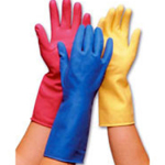 Rubber Marigold Type Gloves Blue Small (Pack of 12)